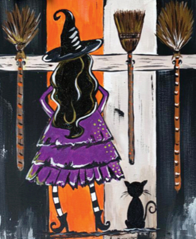 Maison Monogramming Art Bayou Paint Party Witches Be Crazy