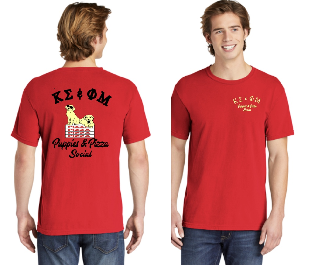 Puppy and Pizza Social Shirt