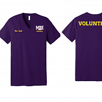 MBE Volunteers V-Neck Tee